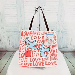 Brighton LOVE Tote Bag On The Wings of Doves...
